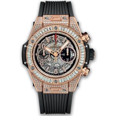 Hublot Unico King Gold Jewellery  45mm 411.OX.1180.RX.0904 (фото 1)