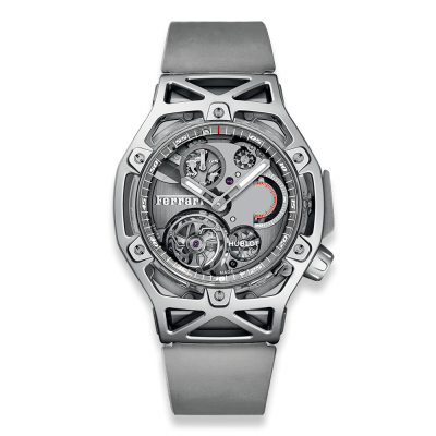 Hublot Techframe Ferrari Tourbillon Chronograph Sapphire White Gold 45mm 408.JW.0123.RX (фото 1)