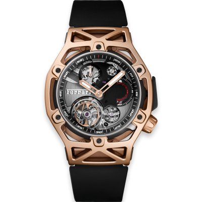 Hublot Techframe Ferrari Tourbillon Chronograph King Gold 45mm 408.OI.0123.RX (фото 1)