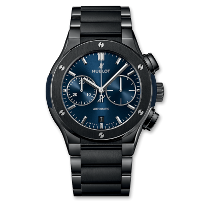 Hublot Chronograph Ceramic Blue Bracelet 45mm 520.CM.7170.CM (фото 1)