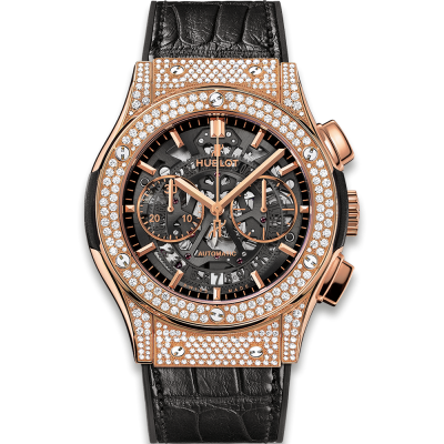 Hublot Aerofusion King Gold Pave 45mm 525.OX.0180.LR.1704 (фото 1)