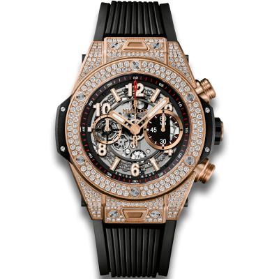 Hublot Unico King Gold Pave 45mm 411.OX.1180.RX.1704 (фото 1)