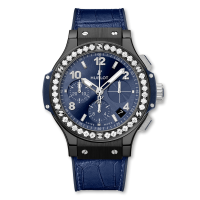 Часы Hublot Ceramic Blue Diamonds 41mm 341.CM.7170.LR.1204