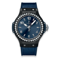 Часы Hublot Ceramic Blue Diamonds 38mm 361.CM.7170.LR.1204