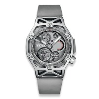 Часы Hublot Techframe Ferrari Tourbillon Chronograph Sapphire White Gold 45mm 408.JW.0123.RX