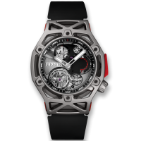 Часы Hublot Techframe Ferrari Tourbillon Chronograph Titanium 45mm 408.NI.0123.RX