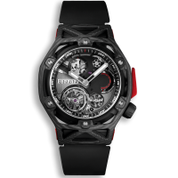 Часы Hublot Techframe Ferrari Tourbillon Chronograph Carbon 45mm 408.QU.0123.RX