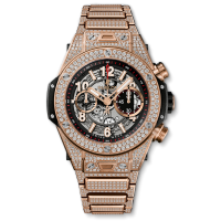 Часы Hublot Unico King Gold Pave Bracelet 45mm 411.OX.1180.OX.3704