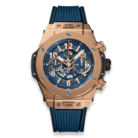 Часы Hublot Unico King Gold Blue 45mm 411.OX.5189.RX