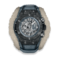 Часы Hublot Unico Frosted Carbon 45mm 411.QK.7170.VR.ALP18