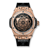 Часы Hublot Sang Bleu King Gold Diamonds 39mm 465.OS.1118.VR.1204.MXM17