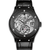 Часы Hublot Tourbillon Cathedral Minute Repeater Carbon 45mm 504.QX.0110.LR