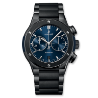Часы Hublot Chronograph Ceramic Blue Bracelet 45mm 520.CM.7170.CM