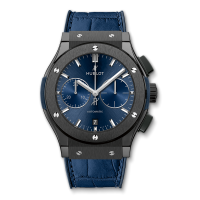 Часы Hublot Ceramic Blue Chronograph 45mm 521.CM.7170.LR