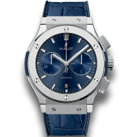 Часы Hublot Blue Chronograph Titanium 45mm 521.NX.7170.LR