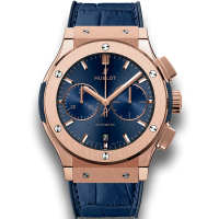 Часы Hublot Blue Chronograph King Gold 45mm 521.OX.7180.LR