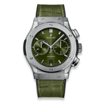 Часы Hublot Chronograph Titanium Green 45mm 521.NX.8970.LR
