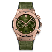 Часы Hublot Chronograph Green King Gold 45mm 521.OX.8980.LR