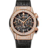 Часы Hublot Aerofusion King Gold Pave 45mm 525.OX.0180.LR.1704