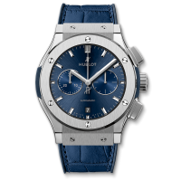 Часы Hublot Blue Chronograph Titanium 42mm 541.NX.7170.LR