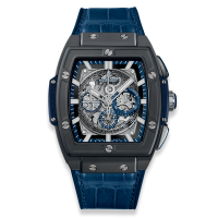 Часы Hublot Spirit of Ceramic Blue 45mm 601.CI.7170.LR