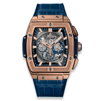 Часы Hublot Spirit of King Gold Blue 45mm 601.OX.7180.LR