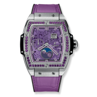 Часы Hublot Spirit Of Moonphase Titanium Purple 42mm 647.NX.4771.LR.1205