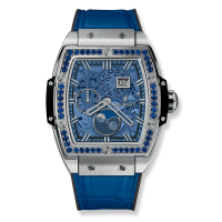 Часы Hublot Spirit Of Moonphase Titanium Dark Blue 42mm 647.NX.5171.LR.1201