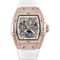 Часы Hublot Spirit Of Moonphase King Gold White Pave 42mm 647.OE.2080.RW.1604