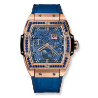Часы Hublot Spirit Of Moonphase King Gold Dark Blue 42mm 647.OX.5181.LR.1201