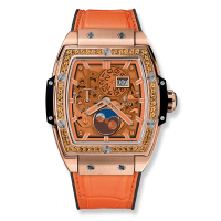 Часы Hublot Spirit Of Moonphase King Gold Orange 42mm 647.OX.5381.LR.1206