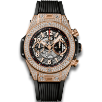 Часы Hublot Unico King Gold Pave 45mm 411.OX.1180.RX.1704