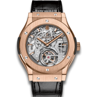 Часы Hublot Tourbillon King Gold Skeleton 504.OX.0180.LR