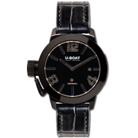 Часы U-BOAT CLASSICO 42 CERAMIC BLACK DIAMONDS 7124